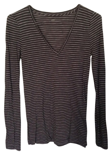 J.Crew T Shirt Black with white stripe