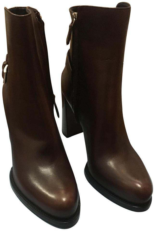 fabaab9cc20 Prada Brown New with Tags Ankle Boots Booties Size US 10 Regular (M ...