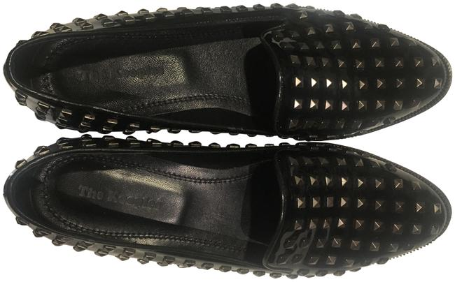 Item - Black Patent Leather Slippers with Pyramid Studs Flats Size US 9 Regular (M, B)