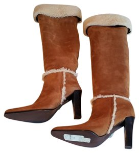 Ralph Lauren Collection Sheepskin Suede Fawn Boots