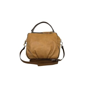Marni With Silver Details Satchel in Tan