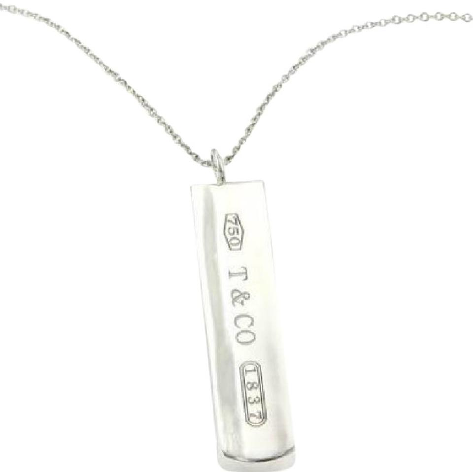 ee1db5107 Tiffany & Co. Sterling Silver Long Bar Pendant Necklace - Tradesy