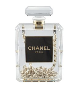 Chanel Evening Plastic Clear Travel Bag