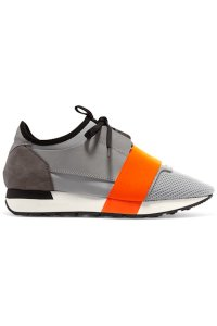 Balenciaga Racer Sneakers Grey Black Orange Athletic