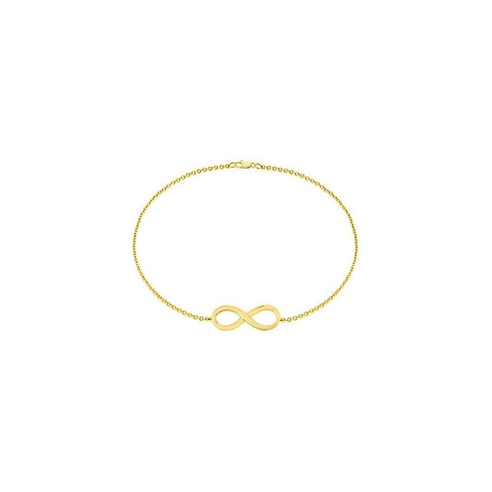 2ae5e3c175a123 Marco B 18K Yellow Gold Vermeil Infinity Bracelet in Sterling Silver 7 Inch  Image 0 ...
