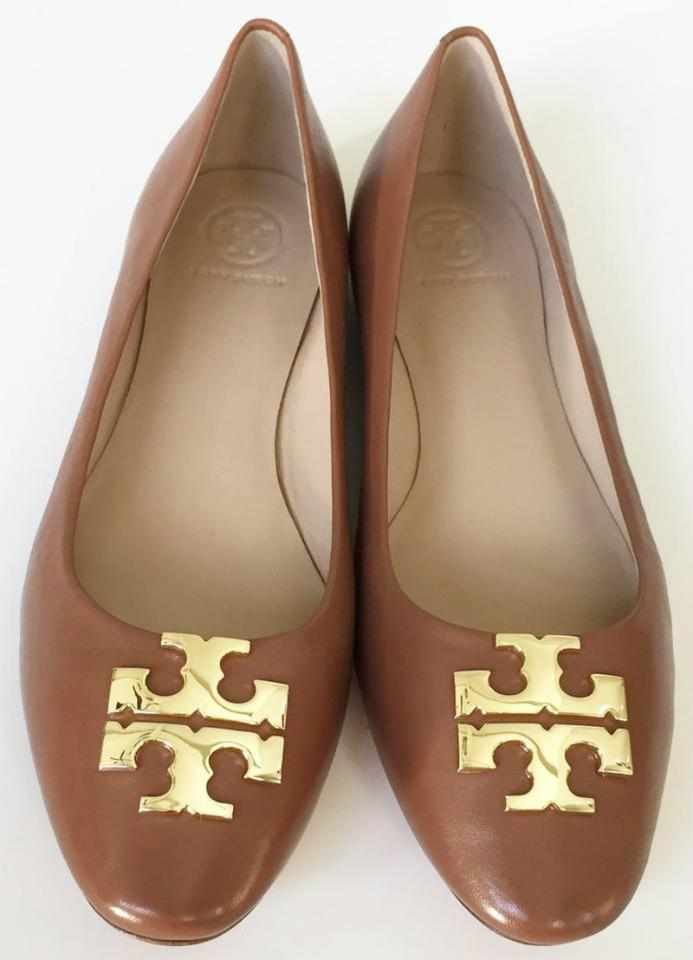 80c44122f3c4 Tory Burch Nutria Brown Raleigh Ballet Flats Leather Pumps Size US 7.5  Regular (M