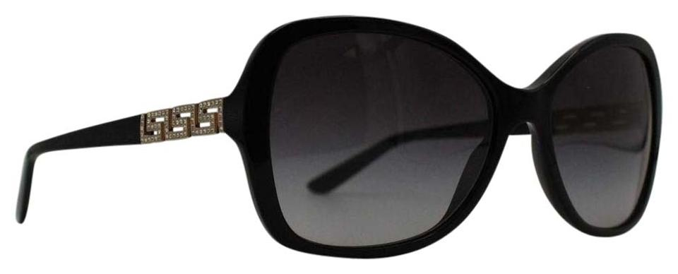 0163e03440c10 Versace Black Jeweled Butterfly Gradient Sunglasesses MOD 4271-B Image 0 ...