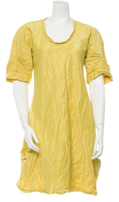 Calvin Klein Collection Yellow Short Casual Dress Size 8 (M) Calvin Klein Collection Yellow Short Casual Dress Size 8 (M) Image 1