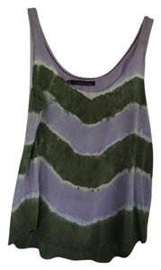 Patterson J. Kincaid Silk Camisole Dye Top Purple/White/Green