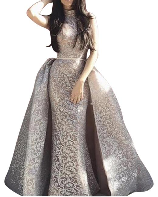 Item - Gold Dazzle Gown Style 1702 Long Formal Dress Size 4 (S)