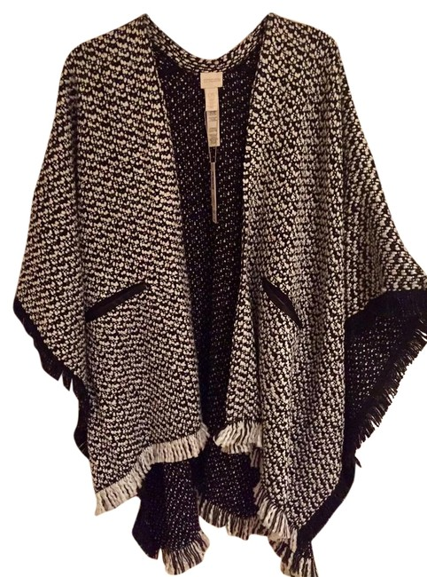 Item - White/Bl Poncho/Cape Size OS (one size)