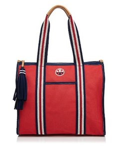 Tory Burch Tote in Red/Navy