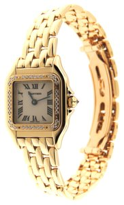 Cartier Cartier Panthere Diamonds 18K YG 22mm Analog Watch Box & Papers