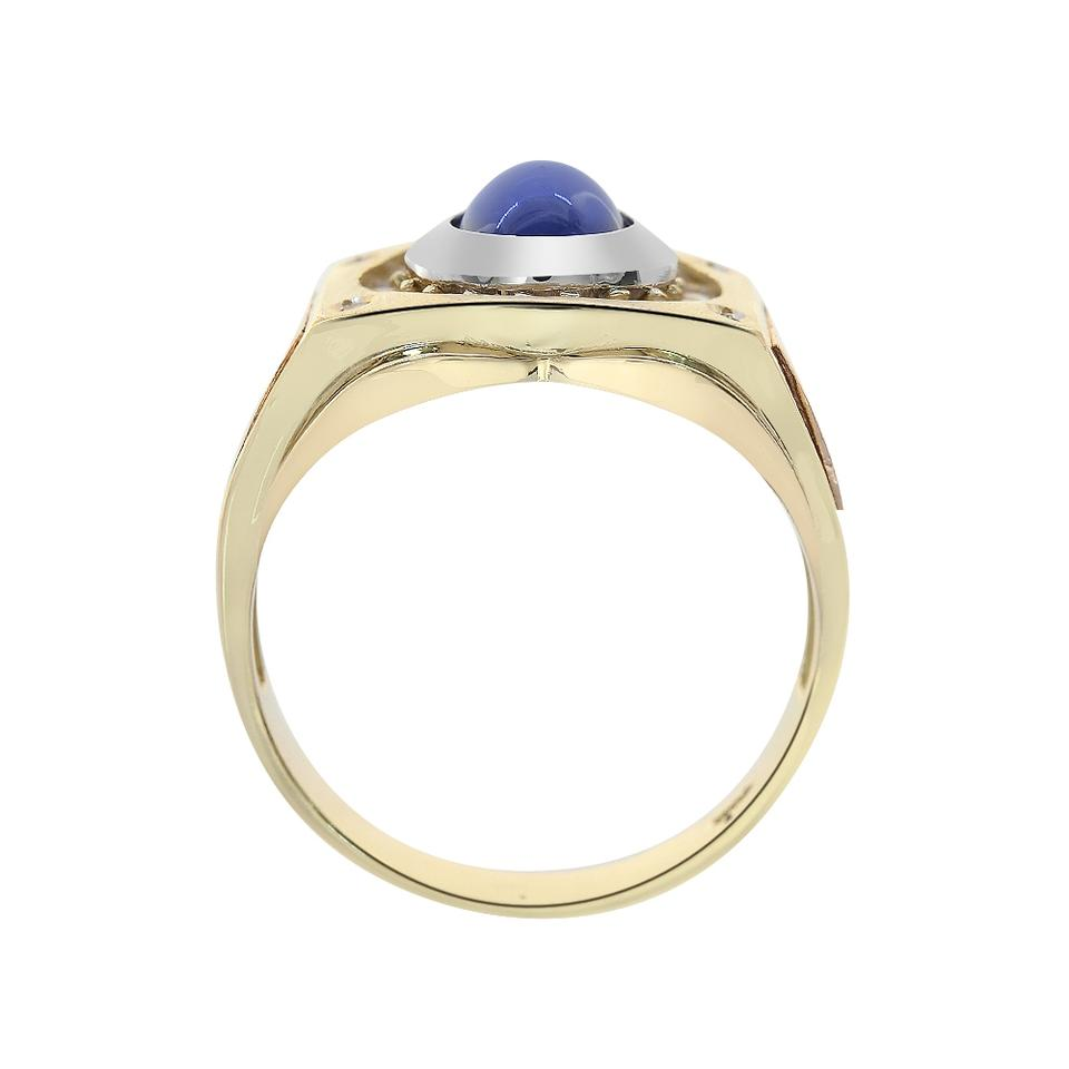 Avital co jewelry 14k tri tone gold carat cz and for Man made sapphire jewelry