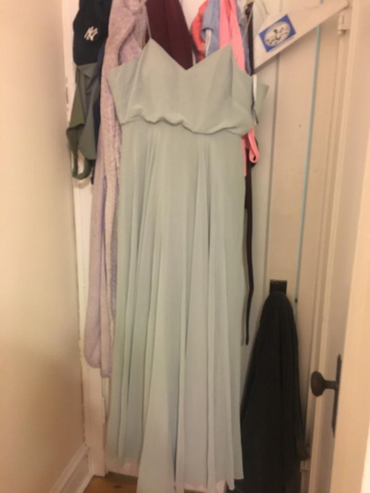 ef44b93f16e BHLDN Inesse Chiffon Gown In Morning Mist Jersey Formal Bridesmaid Mob Dress  Size 6 (