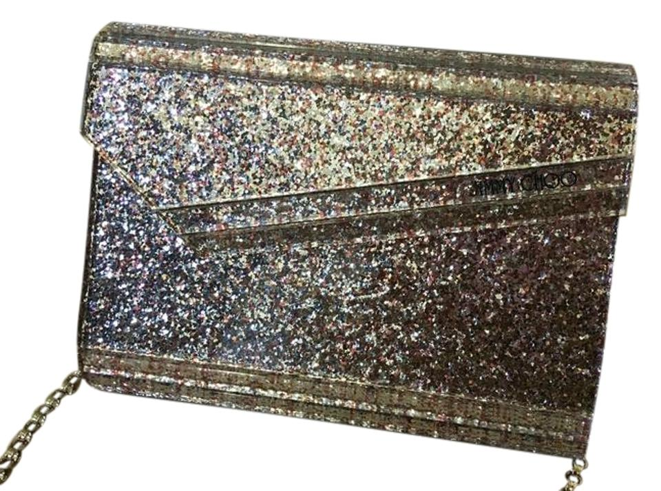 c531bc2ae37 Jimmy Choo Candy Small Nude Speckled Glitter Acrylic Clutch - Tradesy