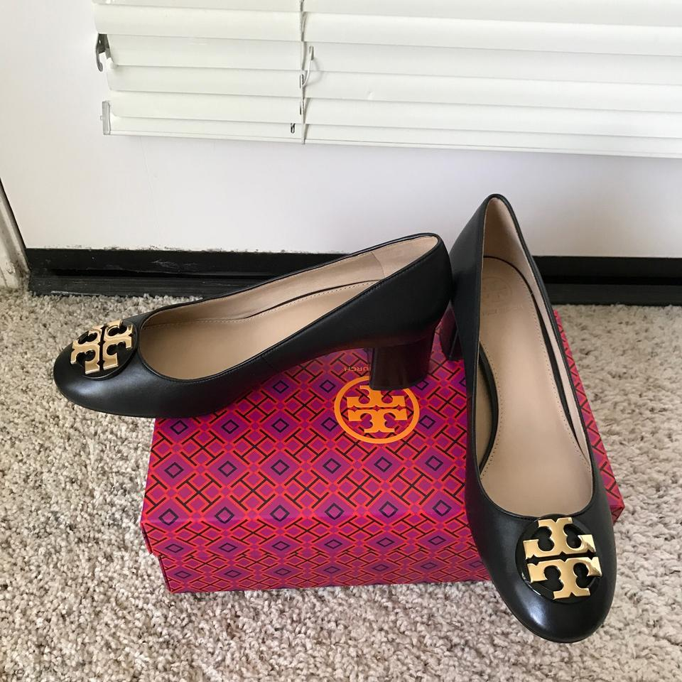 3742df49435 Tory Burch Black 10m   Janey   50mm Calf Leather Pumps Size US 10 ...