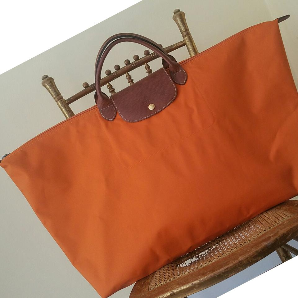 3170321f5210 Longchamp Le Pliage Xl Orange Nylon Tote - Tradesy