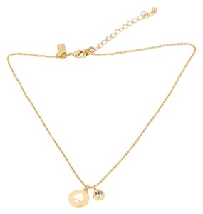 Kate Spade Spot the Spade Crystal White/Gold Necklace