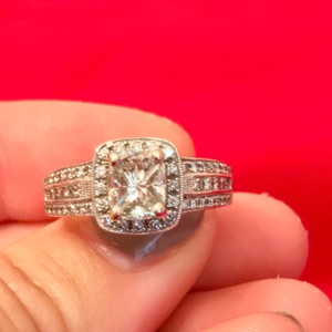 Simon G. 2.3 Ct Halo Engagement Ring