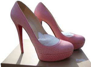 Christian Louboutin Miami Boutique Exclusive Python Rare Pink Rosa Pumps