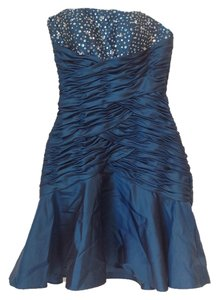 Mori Lee Beaded Sequin Ruching Prom Dress