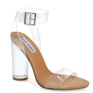 Steve Madden Tan and Clear Sandals