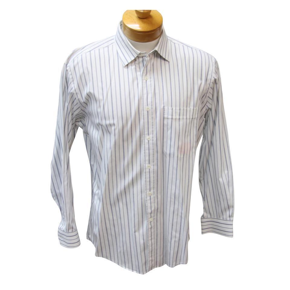 ba87642caa22 Valentino Gucci Zegna John Varvatos Paul Smith Button Up Shirts Button Down  Shirt White Stripe Image ...