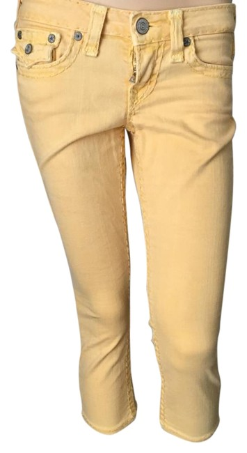 Item - Yellow Lily Super Cropped Jeans Capris Size 6 (S, 28)