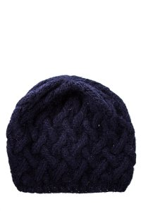 Eugenia Kim Kim Navy Cable Knit Beanie