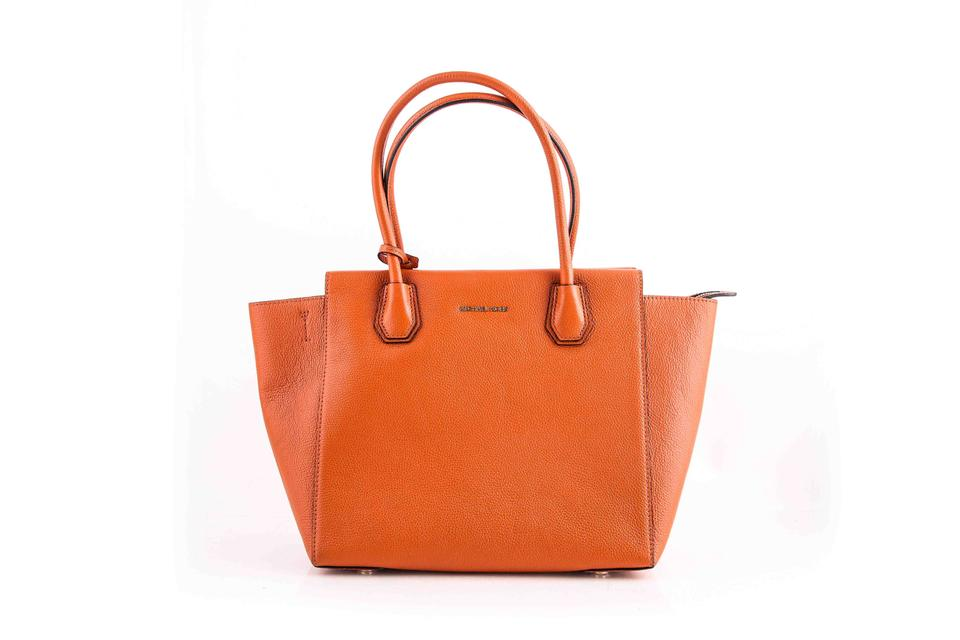 6e6672b9fae7 Michael Kors Mercer Orange Satchel - Tradesy