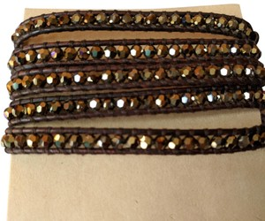 Chan Luu Chan Luu Wrap Bracelet on Brown Leather with bronze beads