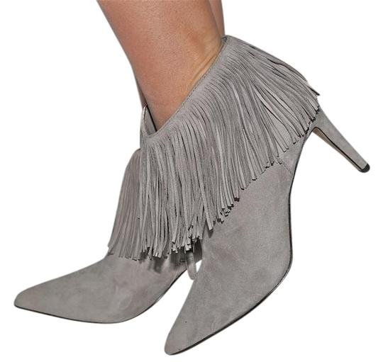 3705f08921be8a Sam Edelman Gray Kandice Fringe Ankle Boots Booties Size EU 37.5 ...