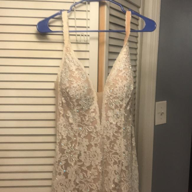 Item - Cream Lace White Gown Formal Wedding Dress Size 10 (M)