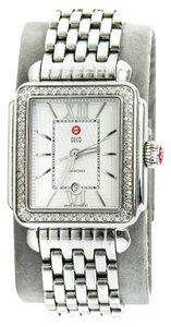 Michele * Michele Women's Stainless Steel Deco Diamond Watch