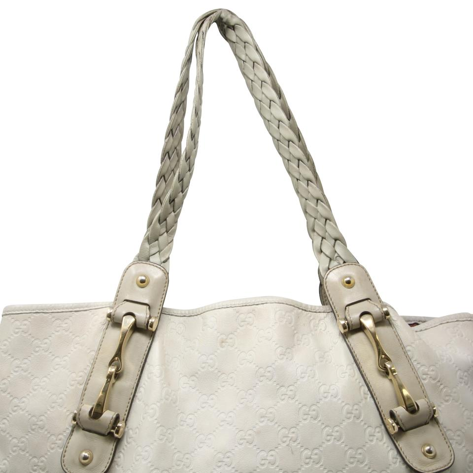 31ca6e5d002 Gucci Pelham Signature Guccissima Braided Strap Medium Off White Leather  Shoulder Bag - Tradesy