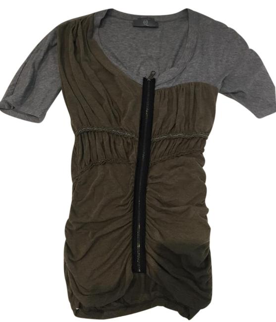MCQ by Alexander McQueen Olive Green Exposed Zipper Tee Shirt Size 6 (S) MCQ by Alexander McQueen Olive Green Exposed Zipper Tee Shirt Size 6 (S) Image 1