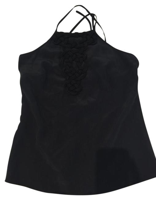 Trina Turk Black Braided Rope Neck Tank Top/Cami Size 4 (S) Trina Turk Black Braided Rope Neck Tank Top/Cami Size 4 (S) Image 1
