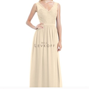 Bill Levkoff Champagne103 / Champagne104 Chiffon / Corded Lace Style 1172 Traditional Bridesmaid/Mob Dress Size 16 (XL, Plus 0x)