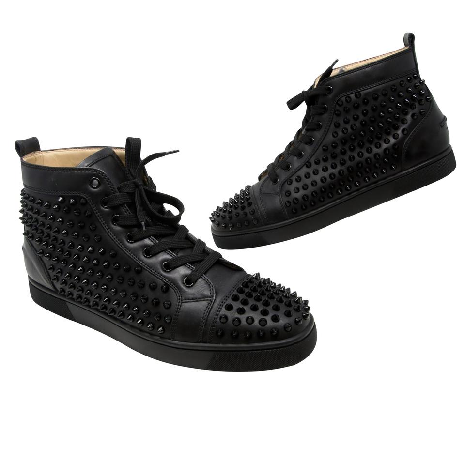 793665cdc0b Christian Louboutin Poppy Spiked Yeezy Versace Vuitton Black Athletic Image  0 ...
