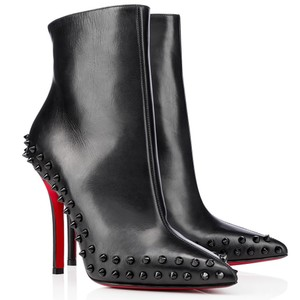 dc582ba82414 Christian Louboutin Spike Ankle Studded Pointed Toe Willetta Black Boots