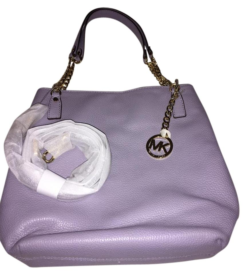 a65d922315c6 Michael Kors Jet Set Chain Lilac Leather Messenger Bag - Tradesy