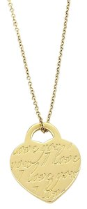 Tiffany & Co. 16580 - Notes I Love You Heart tag Charm Necklace in 18k Yellow Gold
