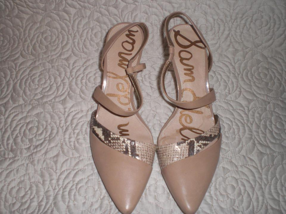 1f030478f5a5 Sam Edelman Silver Othello Nude Br Pointed Strappy High Heels - M ...