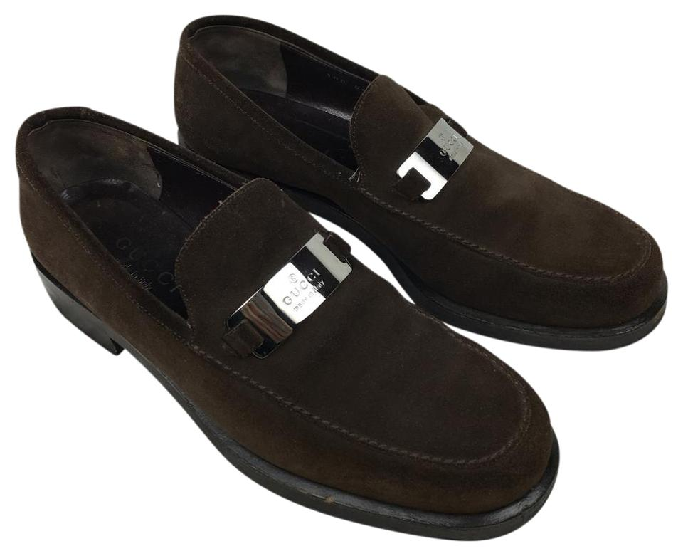 6dc11b3bee9 Gucci Brown Suede Loafers Flats. Size  US 7.5 Regular ...