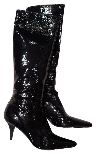 Item - Black Patent Leather Boots/Booties Size EU 37 (Approx. US 7) Narrow (Aa, N)