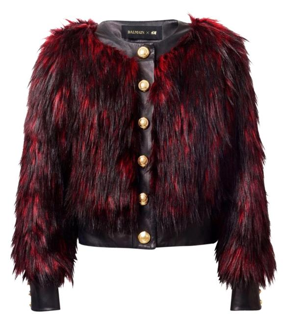 Item - Black Red Gold Jacket Coat Size 10 (M)