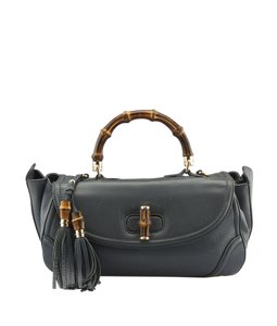 Gucci Leather Satchel in Blue