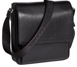 074d33d9a538 Salvatore Ferragamo Revival Crossbody Black Messenger Bag