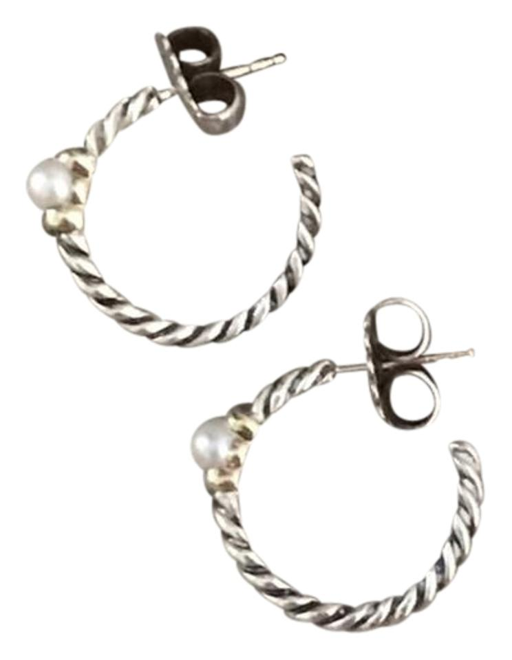0785fc4cc8d23 David Yurman David Yurman Pearl Hoop Earrings Image 0 ...